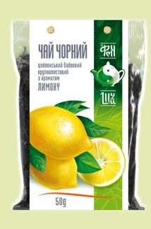 Чай черный Цейлонский байховый крупнолистовой с ароматом лимона