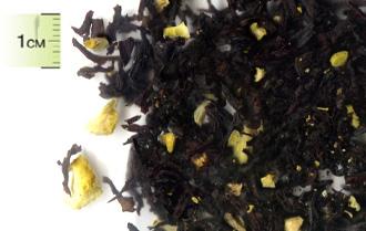 Чай черный Цейлонский с кусочками лимона, и ароматом лимона