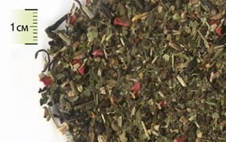Чай зелёный листовой с липой, мелисой и кусочками малины