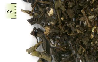 Чай зелёный листовой с кусочками личи, яблока и ароматом саусепа
